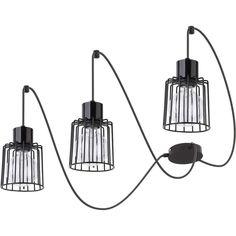 187 Zwieszana LAMPA druciana LUTO KWADRAT 31129 Sigma industrialna OPRAWA zwis metalowe klatki loft drut czarne