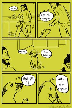 Not For Puppies Yellow Comics by Grace Culloton