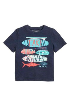 Printed T-shirt: T-shirt in printed slub jersey.