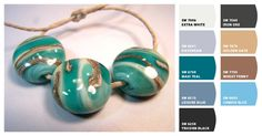 What a fun way to find coordinating colors for your jewelry!