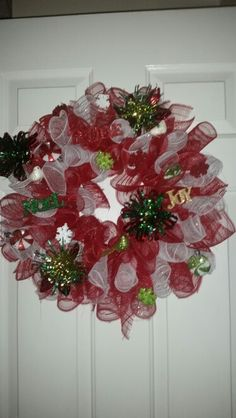 1st christmas wreath I made for my mom