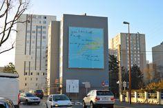 Fresque sur façade-art mural monumental pour la ville de Petit Quevilly by Mel et Kio