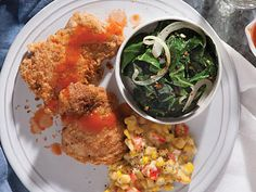 Savory Pan-Fried Chicken with Hot Sauce | This simple recipe is a revelation: It tastes as good as the old-school, supersavory chicken you'd get in a bucket.