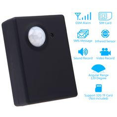 Wireless 1.3MP Infrared Camera Video Security Motion Detector GSM Home Office PIR SMS MMS Alarm System Anti-theft EU adapter