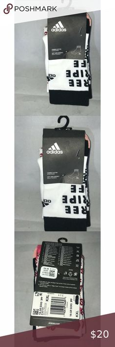 """Adidas """"The three stripe brand"""" Socks Sz KXL You are viewing a 3pack of Adidas multi color """" the brand with the three stripes"""" socks multicolor Sz KIDS X-large ; NWT Please view all pics and ask any questions you may have prior to making a bid, offer, or purchase. The item in the pictures is the EXACT item you will receive if placing an order. Please do not hesitate to ask any questions or make offers !! I will accept almost all REASONABLE offers !! Thanks so much for your time and your…"""