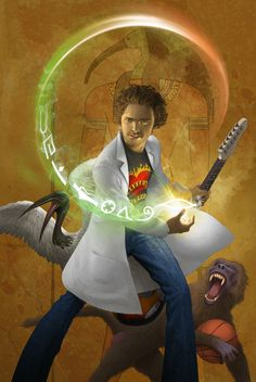 Kane Chronicles Character - Thoth -----> Thoth is supposed to look old!<<<no he's not it says that he looks like a college student that has a very messy place