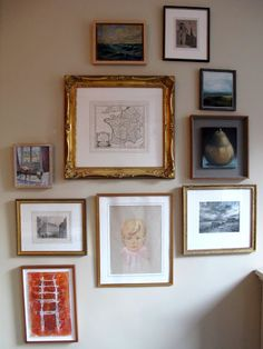 random collection wall display in Betsy Morgan's house NYC