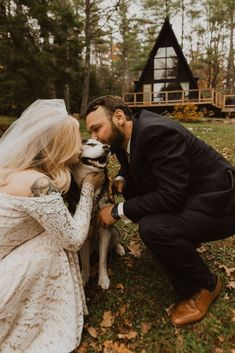 Woodsy Boho Cabin Wedding Inspiration in New Hampshire – Haus of Gravity – Compass Collective 34