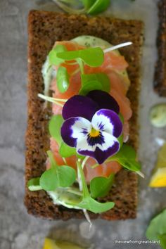 Gorgeous Nordic Smoked Salmon Open Faced Sandwiches from The View from Great Island