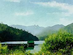 View of the Lions from Cleveland Dam - Limited Edition 1 of 10 Artwork North Vancouver, New Media, Cleveland, Lions, Buy Art, Paper Art, Saatchi Art, Original Art, Blue Clouds