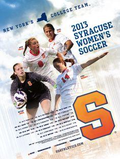 Syracuse Women's Soccer Poster (2013)