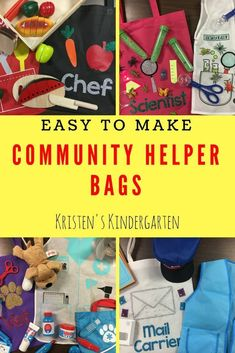 These Community Helper Bags are easy to make and fun for my Kindergarten students to use!