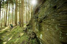 """Spring Opening im Trailcenter Rabenberg am 9.–11. Mai 2014 Alle Trails wie der hier gezeigte """"The Rock"""" werden geöffnet sein."""