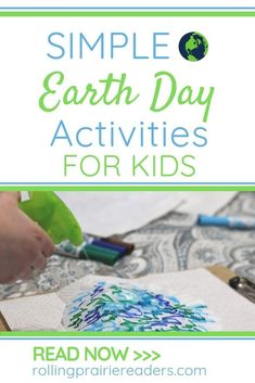 Teach your children to care for the environment with these fun Earth Day books and simple activities for kids. Earth Day Activities, Spring Activities, Fun Activities For Kids, Creative Activities, Educational Activities, Learning Activities, Earth Day Crafts, Stem For Kids, Different Holidays