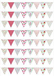 CK-Style-Vintage-SMALL-Flower-Bunting-Edible-Wafer-Paper-Icing-Cake-Topper