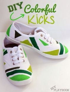 DIY colorful sneakers http://sulia.com/channel/crafts/