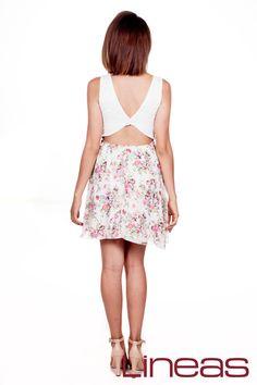 Vestido, Modelo 18426. Precio $220 MXN #Lineas #outfit #moda #tendencias #2014 #ropa #prendas #estilo #primavera #vestido