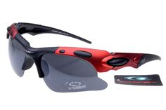 4dca0900c7 cheap Oakley Plate Sunglasses blackred frames black lens-7085 sale online