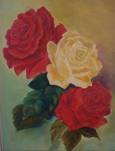 rosas vermelhas e amarela