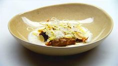 Beef fillet and Jerusalem artichoke with onion cream and chestnut cereal | MasterChef Australia #masterchefrecipes