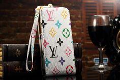Flip Classic Louis Vuitton iPhone8/7/6S/6/Plus Case White-Multicolor