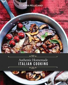 John Pellicano shares more than 100 family recipes entres, pasta, sauces, pizza, mains and deserts in this glossy hardcover publication Authentic Homemade Italian Cooking. More than 100 easy to follow