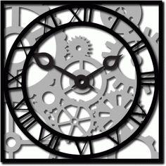 #37096: roman clock and gears n cogs