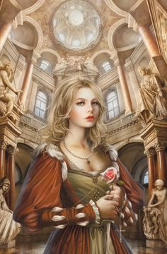 The White Rose by Cris Ortega #Nobility #FantasyArt #Beauty