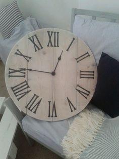 Handmade wooden clock.