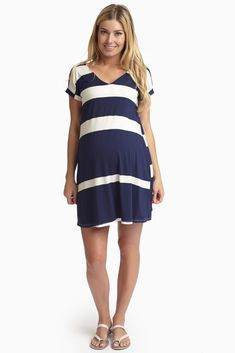 For a casual everyday wear, this striped dress has you covered this season.