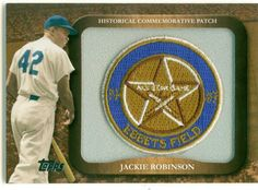A wonderful card featuring Jackie Robinson. Bidding starts at only $1.50.  www.rookiesportsandmore.com