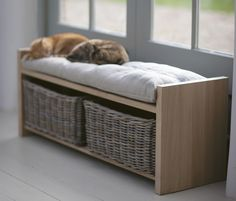 Cushioned Hallway Storage Bench