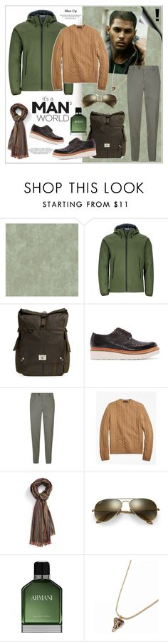 """""""MEN WITH STYLE ARE GREAT BECAUSE THEY HAVE A SENSE OF SELF!!!"""" by kskafida ❤ liked on Polyvore featuring Marmot, Barbour, Grenson, Brunello Cucinelli, Brooks Brothers, Paul Smith, Ray-Ban, Emporio Armani, Topman and men's fashion"""