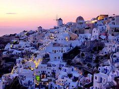 Greece : A view on Oia, Santorini (Greece)