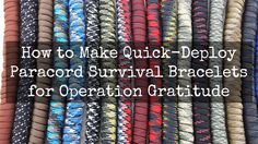 """Please note —IMPORTANT: You can find additional information, instructions and tips here:Paracord """"Survival"""" Bracelets FAQs & Tips Watch this video to learn how to make the new Quick-Dep…"""
