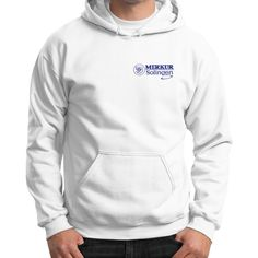 Merkur Logo Gildan Hoodie (on man)