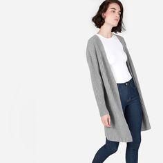 Women's Ribbed Wool-Cashmere Oversized Cardigan | Everlane