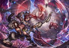 Commission : Marie Makise by Sa-Dui on DeviantArt Monster Hunter Series, Monster Hunter Art, Darkest Dungeon, Anime Warrior, Cute Characters, Final Fantasy, Art Forms, Concept Art, Beast