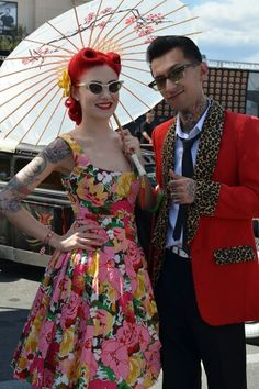 Rockabilly couple-i like the format of the picture with the parasol.