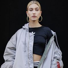 5551dfc0f5e Hailey Baldwin spotted in a Vetements x Alpha Industries jacket while at  her