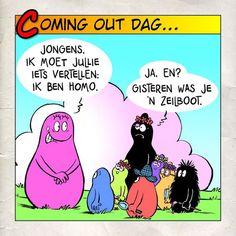 11 oktober: Internationale #comingout dag Ik moet iedere keer weer lachen als ik dit stripje zie. #barbapapa #comingoutday