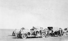 T E LAWRENCE ARAB REVOLT 1916 - 1918 (Q 60057) Jefer - armoured cars crossing the desert from Maan to Jefer Depression.