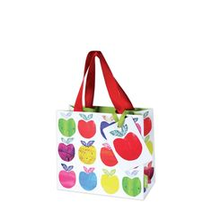 Apples gift bagPetite Gift bag Size: W197mm x H155mm x L55mm when open Double red grosgrain handles   Manufacture by Deva Designs LtdCards and Gift Wrap