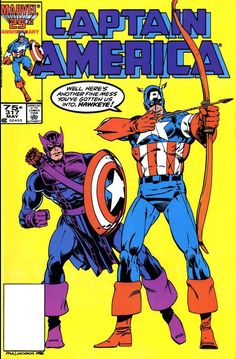 1985 - Captain America #317, cover by Paul Neary and Jackson Guice