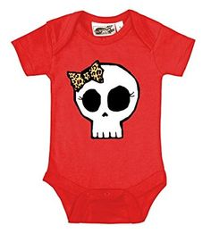 Leopard Print Bow Girly Skull Hot Pink Onesie by My Baby Rocks: Girls Infant Clothing Rockabilly Baby Girl, Punk Baby Clothes, Diy Clothes, Black Long Sleeve Romper, Grey One Piece, Textiles, One Piece Bodysuit, Cool Baby Stuff, Bow