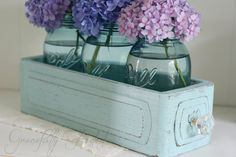 Aqua Sewing Machine Drawer Display Box