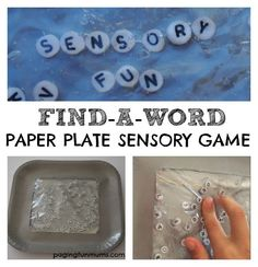 Alphabet Sensory Bag - fun word and letter recognition game!