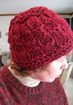 ca53d27854 Ravelry  Chunk-a-Block Hat pattern by Kathy North Knitted Hats