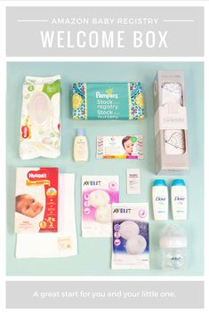 Let us help welcome you to parenthood with a box full of new mom must-haves. Sign-up for Amazon Baby Registry to access all the benefits, including this FREE Welcome Box!