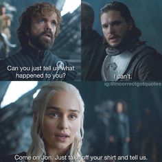 """incorrectgotquotes """"listen to your queen"""" Game Of Thrones Jokes, Got Game Of Thrones, Tyron Lannister, Medici Masters Of Florence, Game Of Thrones Instagram, Jon Snow And Daenerys, Tragic Love Stories, I Love Games, Got Memes"""